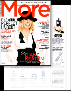 MORE Magazine November 2009 Beauty News features JULIET