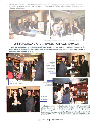 Beauty Fashion, Sniffapaloozas at Juliet Launch